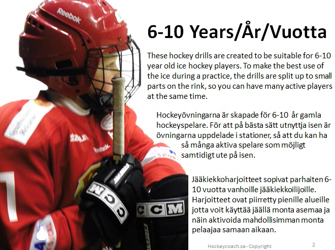 Youth hockey drills and practices, 6, 7, 8, 9 and 10 years old