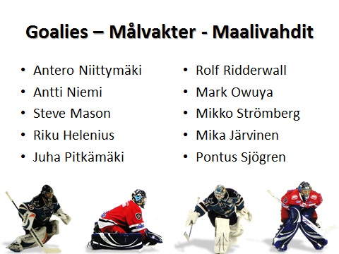 Visual hockey goalie practices, training and drills